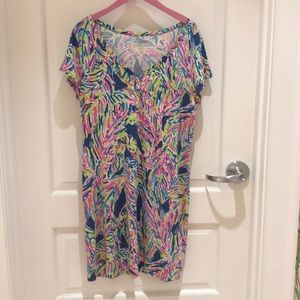 Lilly Pulitzer Dress in Palm Reader, size XL
